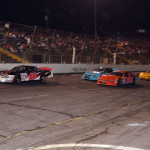 Gus Dean (56) leads a pack of cars during Saturday's X-1R Pro Cup Series race at Hickory (N.C.) Motor Speedway. (Brian Metski Photography Photo)