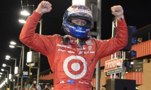 Scott Dixon secured his third IndyCar Series championship Saturday night at Auto Club Speedway. (IndyCar photo)
