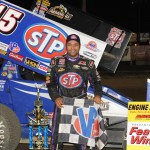 Donny Schatz won Saturday's World of Outlaws STP Sprint Car Series race at Fremont (Ohio) Speedway. (Julia Johnson Photo)