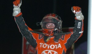Bryan Clauson in victory lane at Tri-City Speedway. (Don Figler photo)