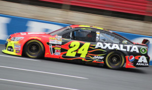 Jeff Gordon grabbed the pole for Saturday's Bank of America 500 on Thursday night at Charlotte Motor Speedway. (Adam Fenwick Photo)