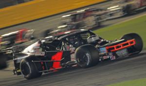 Burt Myers captured Thursday's NASCAR Whelen Southern Modified Tour finale at Charlotte Motor Speedway. (Adam Fenwick Photo)
