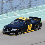 Kyle Busch drives during a test at Homestead-Miami Speedway in Homestead, Florida.