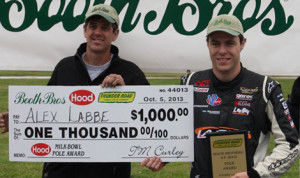 Alex Labbe scored the pole for Sunday's 51st Milk Bowl at Thunder Road Int'l Speedbowl. (Alan Ward Photo)