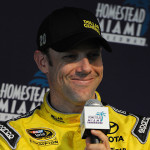 Joe Gibb's Racing driver Matt Kenseth during a driver test at Homestead-Miami Speedway in Homestead, Florida.
