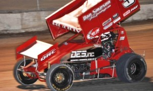 Eleven-year-old sprint car driver Michael Kofoid won the King of the West Lites sprint car title.