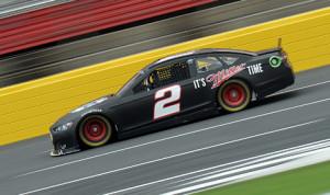Brad Keselowski on track during Monday's NASCAR test at Charlotte Motor Speedway. (NASCAR Photo)