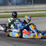 Josef Newgarden and Tyson Catron at the  RoboPong 200 kart race at New Castle Motorsports Park competing for the Dan Wheldon Cup in the weekend event benefiting The Alzheimer's Association. (Photo: David Heithaus)