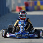 Will Powers races at the  RoboPong 200 kart race at New Castle Motorsports Park competing for the Dan Wheldon Cup in the weekend event benefiting The Alzheimer's Association. (Photo: David Heithaus)