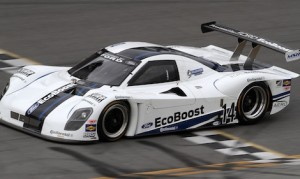 Colin Braun drove a Riley Technologies Daytona Prototype race car, powered by the new 3.5-liter, V-6 Ford EcoBoost race engine, to a new Daytona single lap speed record of 222.971 mph during a special record run attempt Thursday. (Ford Motor Co. photo)