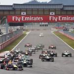 The Formula One field at the start of Sunday's Korean Grand Prix. (Steve Etherington Photo)