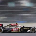 Romain Grosjean on track during Sunday's Korean Grand Prix. (Steve Etherington Photo)