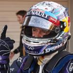 Sebastian Vettel celebrates his fifth-straight Formula One victory after capturing the Japanese Grand Prix Sunday at the Suzuka Circuit. (Steve Etherington Photo)