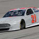 Trevor Bayne drives during a driver test at Homestead-Miami Speedway in Homestead, Florida.