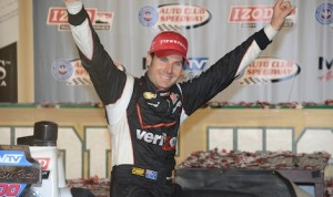 Will Power in victory lane. (Al Steinberg photo)