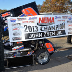 John Zych Jr. captured the 2013 Northeastern Midget Ass'n championship last Sunday at Thompson (Conn.) Int'l Speedway. (Norm Marx Photo)