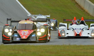 Nicolas Prost piloted  the No. 12 Rebellion Lola B12/60-Toyota to the fastest time in Wednesday practice. (ALMS Photo)
