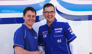 Dean Harrison (left) will ride for team owner Tim Martin and Mar-Train Racing in next year's Isle of Man TT Races. (IOMTT photo)