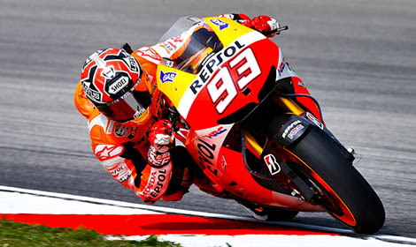 Marc Marquez romped to his eighth MotoGP pole of the season Saturday in Malaysia. (MotoGP photo)