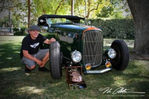 Harrisburg, N.C. resident Robert McCarter drove his 1932 Ford Roadster across country for the Goodguys West Coast Nationals in August, where his hot rod won the coveted Stroker McGurk award. (Courtesy of Robert McCarter)