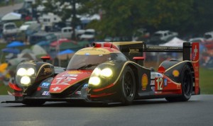The Petit Le Mans winning Rebellion Racing car of Neel Jani, Nico Prost and Nick Heidfeld. (ALMS photo)