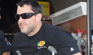 Tony Stewart was injured in a sprint car accident on Aug. 5.