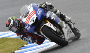 Jorge Lorenzo was once again able to out run his rivals, his rivals, ripping off a lap of 1:53.471 and securing the pole in the final seconds of qualifying. (Yamaha Photo)