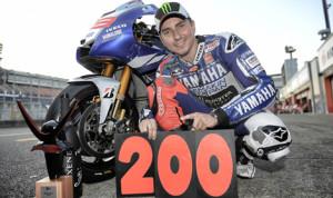 Jorge Lorenzo scored Yamaha's 200th career MotoGP triumph on Sunday at the Twin Ring Motegi in Japan. (Yamaha Photo)
