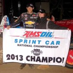 Bryan Clauson was crowned the AMSOIL USAC National Sprint Car Series champion after the Budweiser Oval Nationals  at Perris (Calif.) Auto Speedway. (Hein Brothers Photo)