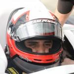 Juan Pablo Montoya gets ready to make laps in his Team Penske IndyCar. (Al Steinberg Photo)