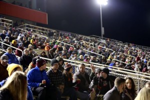 A huge crowd was on hand for the opening night of the World of Outlaws World Finals at The Dirt Track at Charlotte. (CMS photo)