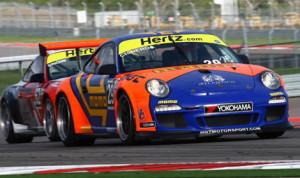 Eduardo Cisneros runs the No. 29 Porsche at Circuit of the Americas earlier this year. (IMSA Photo)