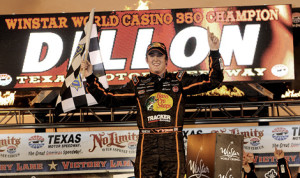 Ty Dillon scored his second victory of the 2013 NASCAR Camping World Truck Series season Friday at Texas Motor Speedway. (HHP/Rusty Jarrett Photo)