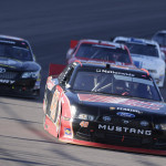 Ryan Blaney (48) leads a pack of cars during Saturday's NASCAR Nationwide Series race at Phoenix Int'l Raceway. (HHP/Harold Hinson Photo)