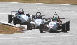 Drivers race for position during Skip Barber Race Series competition Tuesday at Road Atlanta.