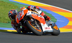 Marc Marquez will attempt to claim his first MotoGP championship from the pole in Valencia. (MotoGP Photo)
