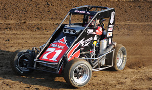 Chris Bell is the Honda USAC National Midget Dirt point leader. (Don Figler photo)