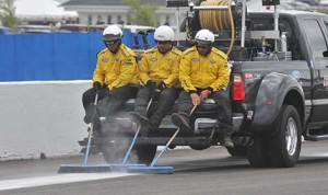 Members of the NHRA Safety Safari at Lucas Oil Raceway at Indianapolis. (Mark Schmidt photo)
