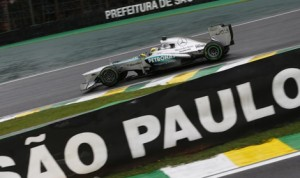 Nico Rosberg paced both Formula One practice sessions in Brazil on Friday. (Mercedes Photo)