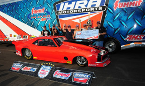 Now, after 30 years behind the wheel, Foster will take the coveted No. 1 with him back to western Canada. (Photo: IHRA)