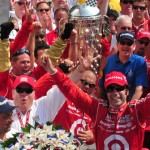 Dario Franchitti celebrates his second Indianapolis 500 victory in 2010. (Ginny Heithaus Photo)