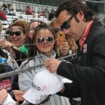 Dario Franchitti greats fans during the 2013 IndyCar Series season. (Ginny Heithaus Photo)