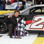 Austin Thompson won the PASS Pro Late Model Series companion event on Saturday at Southern National Motorsports Park. (LWPictures.com Photo)