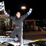 Tyler Church celebrates after winning Saturday's PASS South finale at Southern National Motorsports Park. (LWPictures.com Photo)