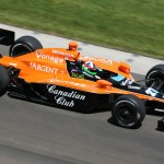 Dario Franchitti on track at Indianapolis Motor Speedway in 2007. (IndyCar Photo)