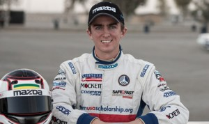 Joey Bickers who won the 2013 Mazda Club Racer Shootout will move to the Mazda MX-5 Cup this season. (Mazda Photo)