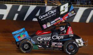 Daryn Pittman locked up the 2013 World of Outlaws STP Sprint Car Series championship on Saturday in Concord, N.C. (Justin Leedy Photo)