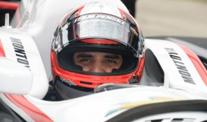 Juan Pablo Montoya made his first laps in a Team Penske IndyCar on Monday at Sebring (Fla.) Int'l Raceway. (Al Steinberg Photo)