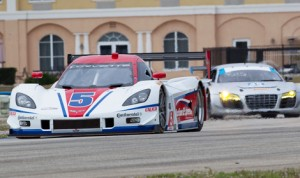 The Action Express Racing No. 5 Corvette DP was fastest during the inaugural test session for the TUDOR United SportsCar Championship on Saturday at Sebring (Fla.) Int'l Raceway. (Ted Rossino Photo)