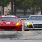 Ferrari and Audi each had cars at the TUDOR United SportsCar Championship test at Sebring (Fla.) Int'l Raceway. (Ted Rossino Photo)
